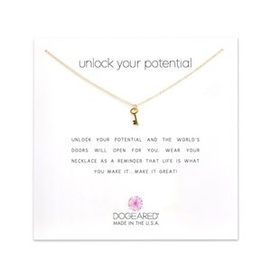 NWT! Dogeared Key Necklace
